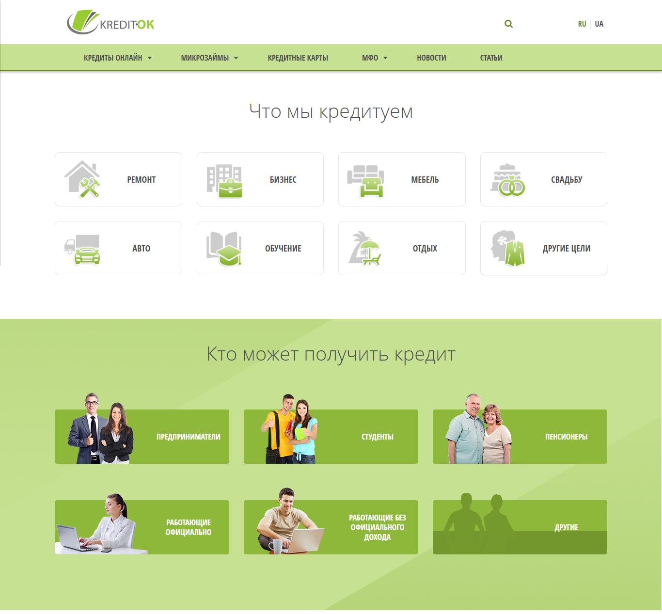 Обзор информационного ресурса kredit-ok.com